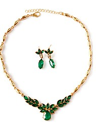 cheap -Women's Green Synthetic Emerald Jewelry Set Bridal Jewelry Sets Stylish Cute Earrings Jewelry Gold For Street Gift Festival