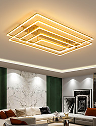 cheap -LED Ceiling Light 96 cm Dimmable Geometric Shapes Flush Mount Lights Acrylic Artistic Style Modern Style Metal Gold Black Modern Nordic Style 220-240V
