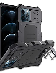 cheap -Rugged Armor Phone Case For iPhone 12 Pro Max iPhone 12 Pro Metal Aluminum Military Grade Bumpers Slide Camera Lens Protector Waterproof Full Body Cover with Kickstand