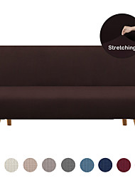 cheap -Stretch Futon Sofa Cover Elastic Couch Slipcover Armless Plain Solid Color Soft Durable