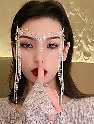 cheap -Exaggerated Design Sense Long Tassel Hairpin Personality Court Style Hair Accessories Fashionable Water Drop-shaped Headdress Women