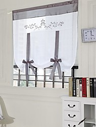 cheap -Semi Sheer Window Curtain Window Treatments 1 Panel Plain Solid for Kitchen Living Room Bedroom Patio Sliding Door
