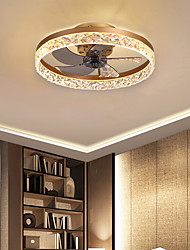 cheap -LED Ceiling Fan Lights 50 cm Dimmable Ceiling Fan Metal Painted Finishes LED 220-240V