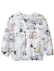 cheap -Kids Unisex Jacket & Coat 1pc Long Sleeve White Car Daily Wear Casual Daily 2-8 Years