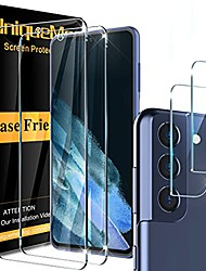 cheap -[2+2 pack]  compatible with samsung galaxy s21 fe (not for samsung galaxy s21) screen protector tempered glass and camera lens protector [easy installation frame] hd clear [anti-scratch]