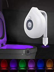 cheap -2pcs 1pcs Smart PIR Motion Sensor Toilet Seat Night Light 8 Colors Waterproof Backlight For Toilet Bowl LED Luminaria Lamp WC Toilet Light