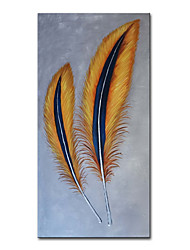 cheap -Oil Painting Handmade Hand Painted Wall Art Mintura Modern Abstract Feather Home Decoration Decor Rolled Canvas No Frame Unstretched