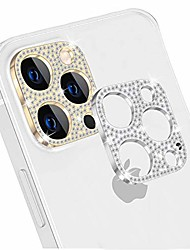 cheap -Phone Screen Protector For Apple iPhone 12 iPhone 11 iPhone 12 Pro Max iPhone 11 Pro iPhone 11 Pro Max Titanium Alloy 2 pcs Diamond Camera Lens Protector Phone Accessory