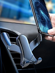 cheap -Phone Holder Stand Mount Car Air Vent Outlet Grille Car Holder Phone Holder Buckle Type Gravity Type Adjustable 360°Rotation Aluminum Alloy Phone Accessory iPhone 12 11 Pro Xs Xs Max Xr X 8 Samsung