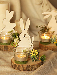 cheap -1Pc Cute Rabbit Candle Holder Home Decor Party Kid's Birthday Decorative Display Candle Holder Creative Gift