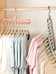 cheap -4Pcs Non-slip Magic Hanger Multifunctional Folding Shirts Coat Clothes Hanger Space Saving Hanger Clothes Hanger Wardrobe Organizer