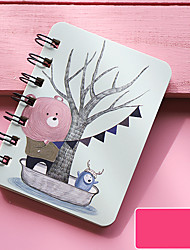 cheap -Cartoon Mini Transparent Loose-Leaf Notebook Kawaii Portable Binder Cute Notepad For Kids Writing Stationery0.8*8cm-yx2-yyn