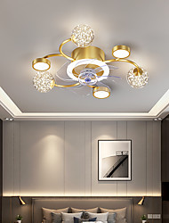 cheap -LED Ceiling Fan Light 53 cm Dimmable Ceiling Fan Aluminum Vintage Style Classic Stylish Painted Finishes LED Nordic Style 220-240V