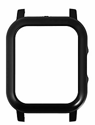 cheap -smart watch shell replacement watch protection frame pc case quick release watch shell watch accessories compatible for xiaomi haylou solar ls02 black