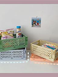 cheap -Plastics Blue / Yellow / Blushing Pink Desk Storage Box / Organizer Boxes Desktop Organizer Bedroom Storage Home supplies 25.3*16.5*10 cm 1 pcs