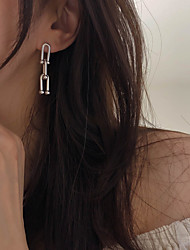 cheap -south korea dongdaemun earrings female personality temperament all-match chain metal earrings cold wind earrings 925 silver needles