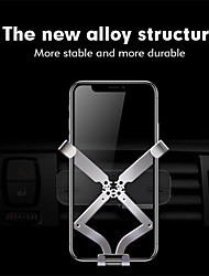 cheap -Phone Holder Stand Mount Car Air Vent Outlet Grille Car Holder Phone Holder Gravity Type Adjustable 360°Rotation Aluminum Alloy Phone Accessory iPhone 12 11 Pro Xs Xs Max Xr X 8 Samsung Glaxy S21 S20