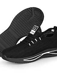 cheap -Unisex Safety Shoe Boots Sporty Classic Chinoiserie Office & Career Safety Shoes Suede Tissage Volant Breathable Non-slipping Wear Proof Black and White Black / Blue Summer