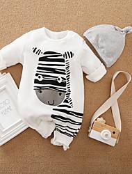 cheap -Baby Boys' Basic Horse Animal Print Long Sleeve Romper White