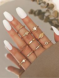 cheap -Ring Vintage Style Gold Alloy Heart Star Crown Stylish Elegant Vintage 10pcs One Size / Women's