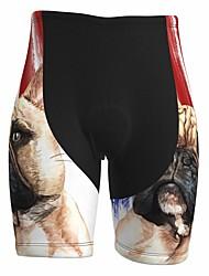 cheap -21Grams Men's Cycling Shorts Summer Spandex Bike Padded Shorts / Chamois Quick Dry Moisture Wicking Sports Dog 3D American / USA Red Mountain Bike MTB Road Bike Cycling Clothing Apparel Bike Wear