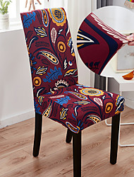 cheap -Faint Fragrance Flower Printing 1Pcs Chair Cover for Dining Room Mandala Print Chairs Covers High Back for Living Room Party Wedding Christmas Decoration