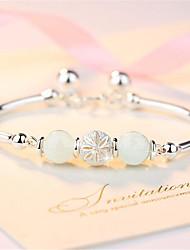cheap -Women's Bracelet Pendant Bracelet Geometrical Precious Fashion Copper Bracelet Jewelry Silver For Christmas Party Wedding Street Daily / Silver Plated