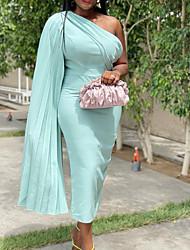 cheap -Women's Wrap Dress Maxi long Dress Light Blue Royal Blue Black Red Sleeveless Solid Color Summer Formal 2021 S M L XL XXL XXXL