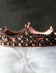 cheap -FORSEVEN Bridal Hair Jewelry Full Circle Beads Pearl Crystal Tiaras Crowns Diadem Headpiece Women Wedding Hair Accessories JL