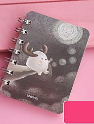 cheap -Cartoon Mini Transparent Loose-Leaf notebook back to school office Kawaii Portable Binder Cute Notepad10.8*8cm1pcs