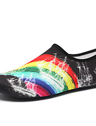 cheap -Men's Unisex Trainers Athletic Shoes Sporty Athletic Water Shoes Elastic Fabric Non-slipping Rainbow Black Black / Green Summer
