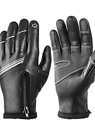 cheap -Winter Bike Gloves / Cycling Gloves Touch Gloves Reflective Waterproof Warm Quick Dry Full Finger Gloves Sports Gloves Black for Adults' Outdoor Exercise Cycling / Bike