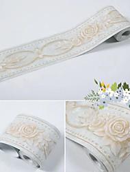 cheap -Wallpaper Self-adhesive Waistline Embossed Rose Flower PVC / Vinyl  Wallpaper  suitable for Family Living Room or Office Decoration Material 3D Home Decor