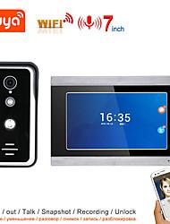 cheap -TUYA Video Intercom WIFI Video Door Phone System Home Intercom Wiith 7 Inch Color Touch Screen Display AHD 1080P Doorbell