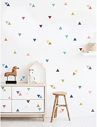 cheap -new color triangle children's bedroom wall cabinet drawer beautification decorative wall stickers self-adhesive FX-B73