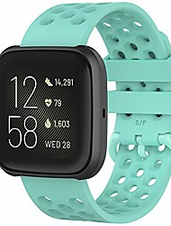 cheap -fit for fitbit versa 2 watch bands women men, quick release adjustable silicone replacement bands straps wrist bands fit for fitbit versa lite edition, versa 2, versa 1, versa se (green, large)