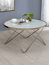 cheap -Modern Coffee Table,Coffee Table in Champagne and Frosted Glass Living Room Furniture