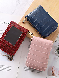 cheap -Female crocodile pattern large capacity multi-card position anti-degaussing wallet ID credit pocket card holder
