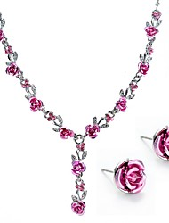 cheap -Women's Jewelry Set Bridal Jewelry Sets Stylish Fashion Cute Earrings Jewelry Blue / Blushing Pink / Red For Wedding Gift Festival