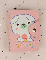 cheap -Colorful cute animals credit pocket card holder Genuine PU leather Bifold Purse Coin Pocket for Men