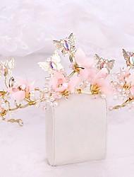 cheap -FORSEVEN Handmade Bridal Tiara HairBand Women Flower Tiara Luxury Crown Wedding Hair Jewelry Accessories JL