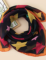 cheap -Women's Square Scarf Party Two-Tone Scarf Graphic