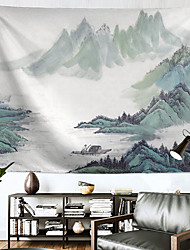 cheap -Chinese Ink Painting Style Wall Tapestry Art Decor Blanket Curtain Hanging Home Bedroom Living Room Decoration Polyester