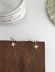 cheap -shining star ins personality star pendant earrings female korean exquisite zircon smile earrings