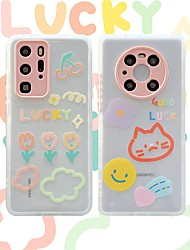 cheap -Phone Case For Huawei Back Cover P40 P40 Pro Shockproof Dustproof Cartoon TPU