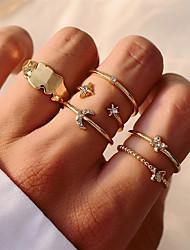 cheap -Ring Set Geometrical Gold Alloy Elegant Fashion Classic 1 set One Size