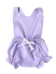 cheap -Baby Girls' Basic Solid Colored Sleeveless Romper Purple Blushing Pink Light Green