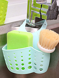 cheap -2 Pieces Kitchen Hanging Basket Portable Adjustable Snap Kitchen Sink Faucet Storage Basket Drain Racks Sponge Holder Two cleaning Sponges Two Cleaning Wipes