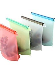 cheap -Silicone Food Bag Sealed Bag High Temperature Resistant Food Grade Silicone Refrigerator Freezer Bag