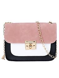 cheap -Women's Girls' Bags PU Leather Mobile Phone Bag Zipper Fashion Daily Date Retro Baguette Bag Chain Bag Blushing Pink Gray Green Black